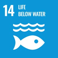 Sustainability Goal 14 - Life Below Water (icon)