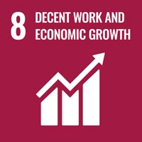 Sustainability Goal 8 - Decent Work & Economic Growth (icon)