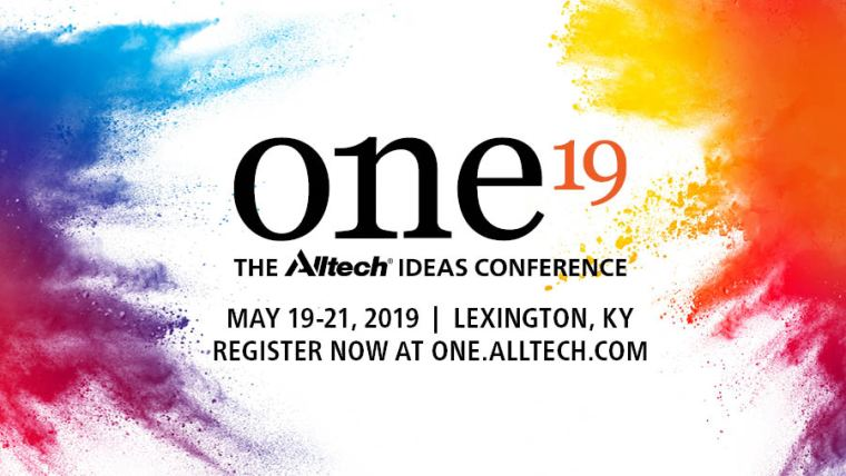 ONE19 - The Alltech Ideas Conference - 19-21 mei 2019 Lexington KY, USA