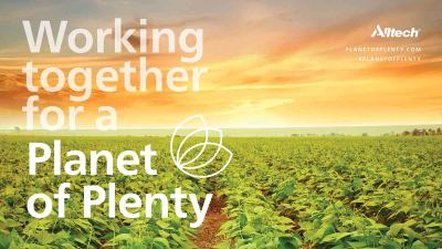 """Working Together for a Planet of Plenty"" (graphic)"