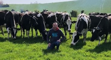 Chris Catherwood with his dairy herd