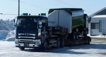 KEENAN MechFiber Truck Mounted loaded onto HGV Japan