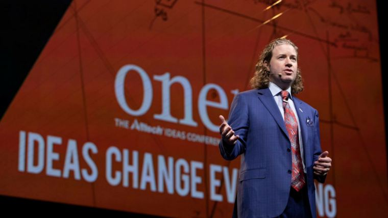 Dr. Mark Lyons, president and CEO of Alltech, at ONE: The Alltech Ideas Conference (ONE18) in May 2018 in Lexington, Kentucky, USA.