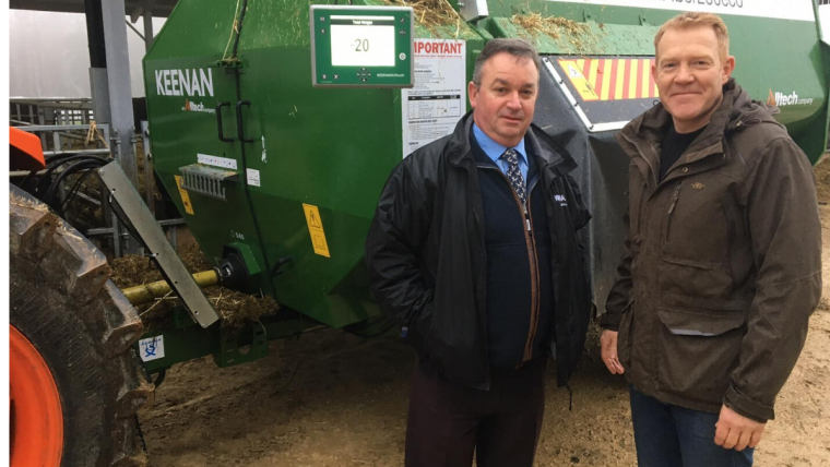 Adam Henson pictured with Denis Dreux, Senior InTouch Feeding Specialist
