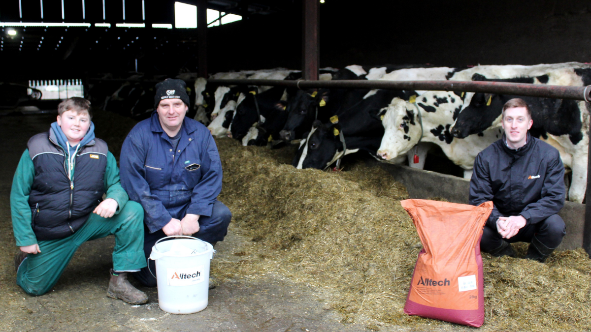 Dairy farmer Ian McKnight with Richard Dudgeon, regional manager, Alltech Northern Ireland