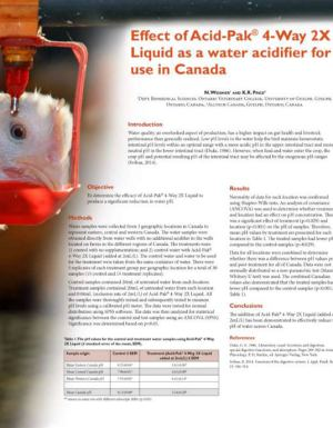 Effect of Acid-Pak as a water acidifier - Research PDF thumbnail